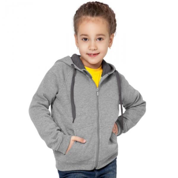 Толстовка детская StanStyleJunior, 10 лет, цвет серый меланж 280 г/м 17J