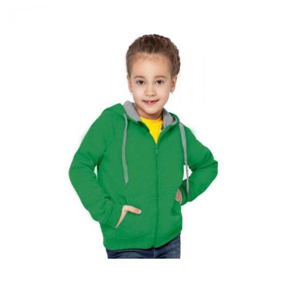 Толстовка детская StanStyleJunior, 8 лет, цвет зелёный 280 г/м 17J