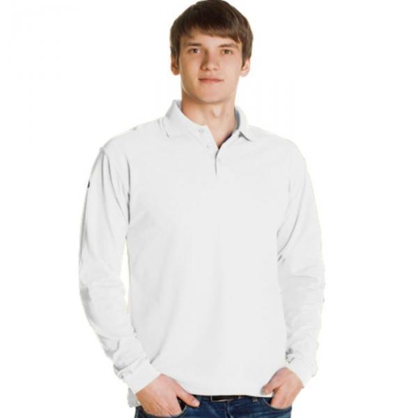 Рубашка-поло мужская StanPolo, размер 44, цвет белый 185 г/м 04S