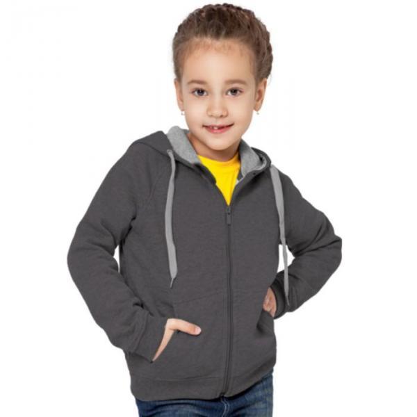 Толстовка детская StanStyleJunior, 12 лет, цвет тёмный меланж 280 г/м 17J