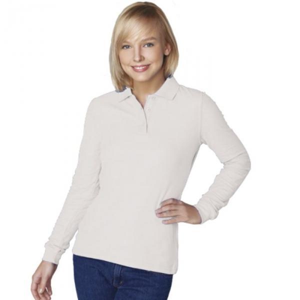 Рубашка-поло женская StanPolo, размер 46, цвет белый 185 г/м 04SW