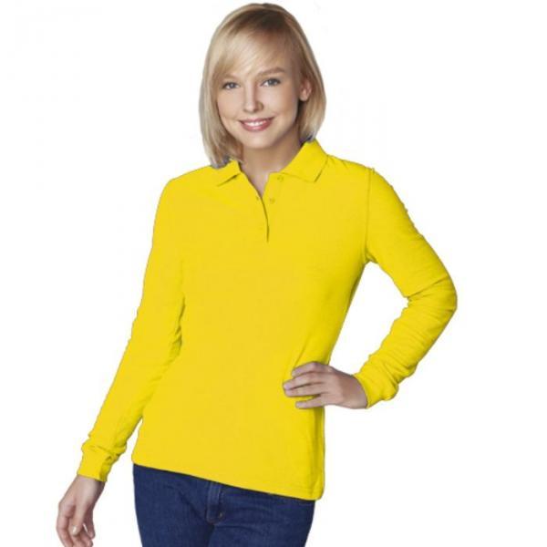 Рубашка-поло женская StanPolo, размер 50, цвет жёлтый 185 г/м 04SW
