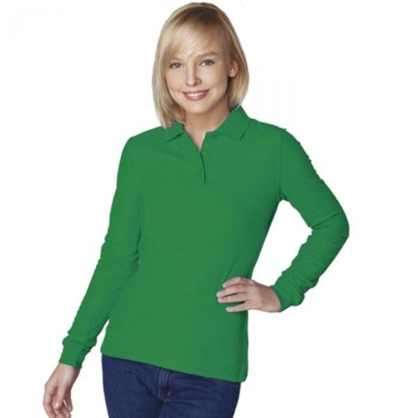 Рубашка-поло женская StanPolo, размер 52, цвет зелёный 185 г/м 04SW