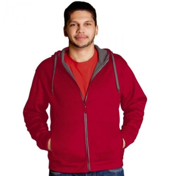 Толстовка мужская StanWinner, размер 52, цвет красный 320 г/м 18