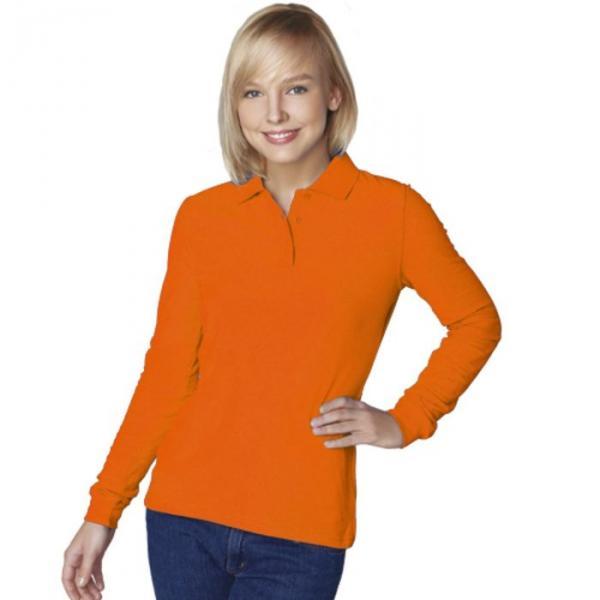 Рубашка-поло женская StanPolo, размер 46, цвет оранжевый 185 г/м 04SW