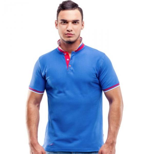 Рубашка-поло мужская PiterBest, размер 44, цвет синий 200 г/ м 1504