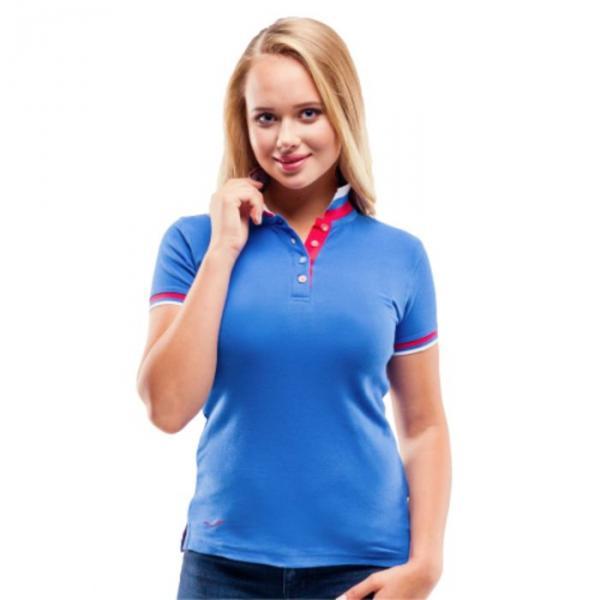 Рубашка-поло женская PiterBest, размер 44, цвет синий 200 г/м 1504W