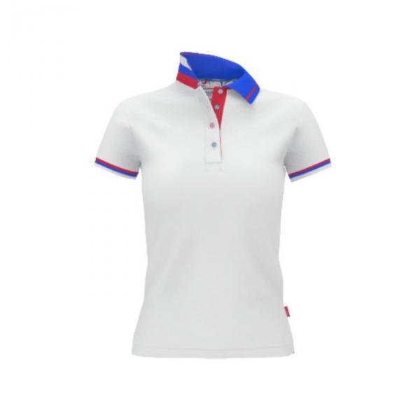 Рубашка-поло женская PiterBest, размер 44, цвет белый 200 г/м 1504W