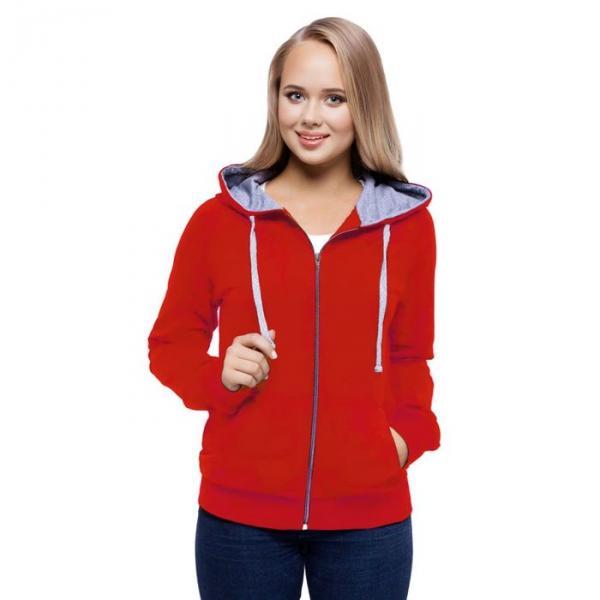 Толстовка женская StanCool, размер 48, цвет красный 260 г/м 61W