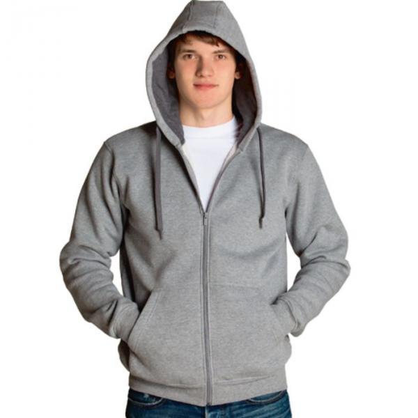 Толстовка мужская StanStyle, размер 46, цвет серый меланж-тёмный меланж 280 г/м 17