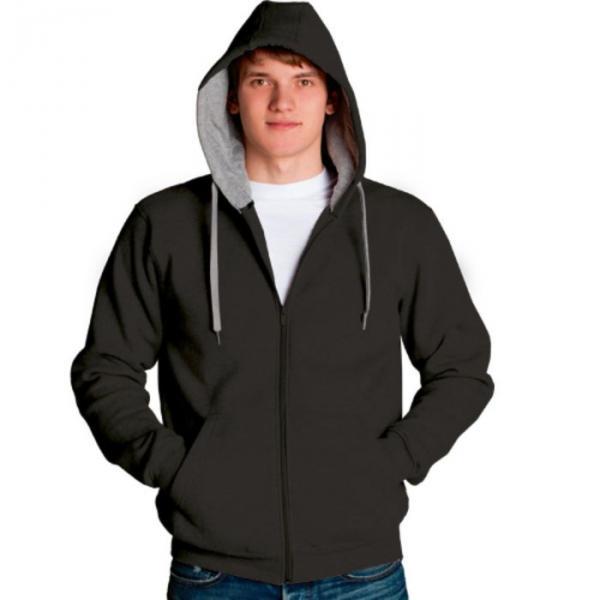 Толстовка мужская StanStyle, размер 48, цвет чёрный-серый меланж 280 г/м 17