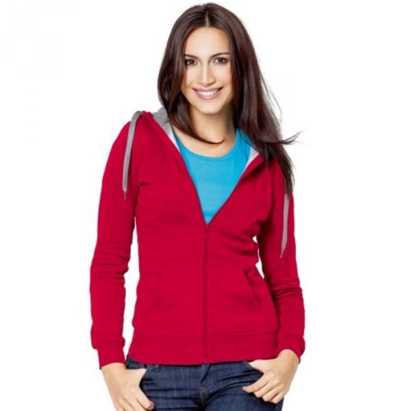 Толстовка женская StanStyle, размер 50, цвет красный-серый меланж 280 г/м 17W