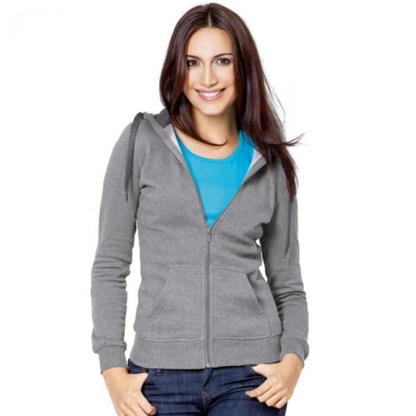 Толстовка женская StanStyle, размер 52, цвет серый меланж-тёмный меланж 280 г/м 17W