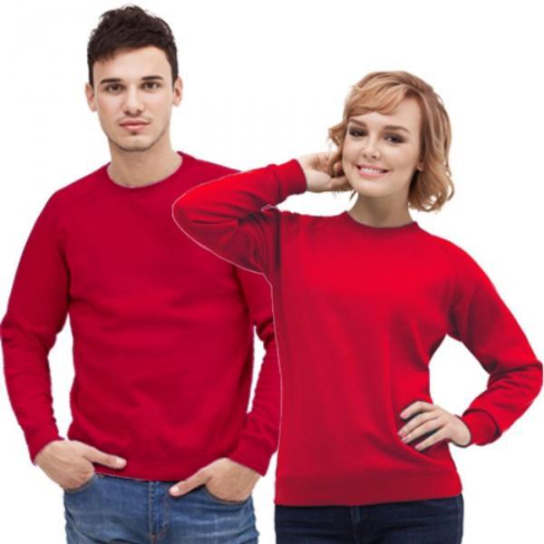 Толстовка муж/жен StanSweatshirt, размер 54, цвет красный 280 г/м 53
