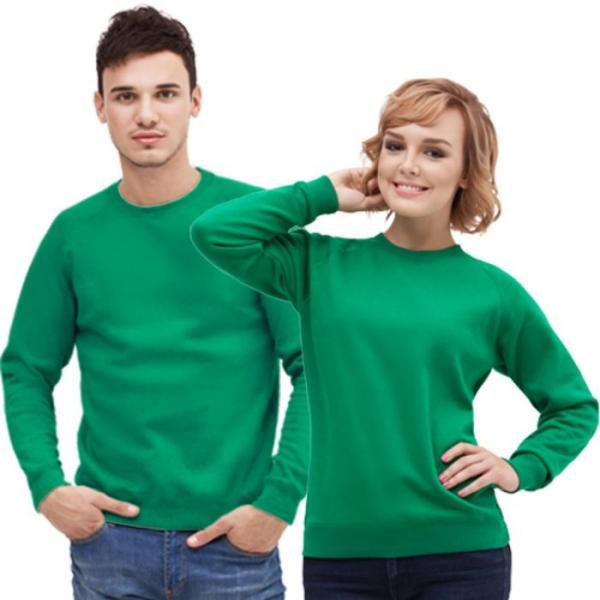 Толстовка муж/жен StanSweatshirt, размер 52, цвет зелёный 280 г/м 53