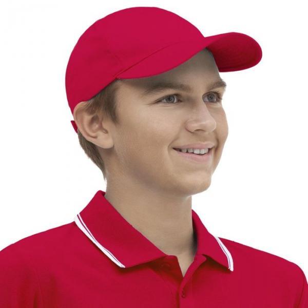Бейсболка StanClassic Junior, one size, цвет красный 150 г/м 10J