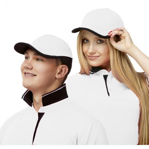 Бейсболка StanTwoСolors, one size, цвет белый 200 г/м 11ТС