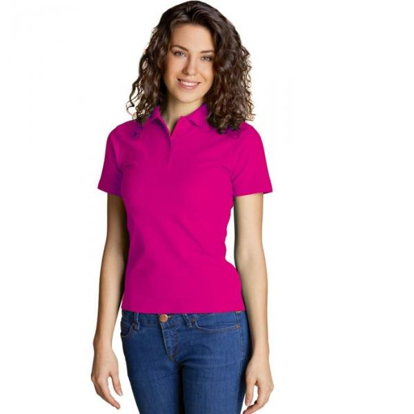 Рубашка-поло женская StanWomen,  размер 44, цвет маджента 185 г/м 04WL