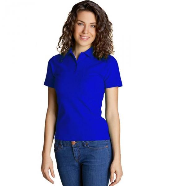 Рубашка-поло женская StanWomen,  размер 46, цвет синий 185 г/м 04WL