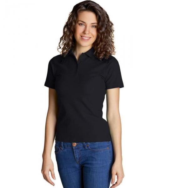 Рубашка-поло женская StanWomen,  размер 52, цвет чёрный 185 г/м 04WL