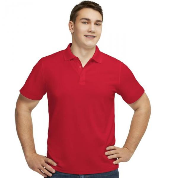 Рубашка-поло мужская StanPoli, размер 46, цвет красный 180 г/м 04E