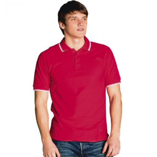 Рубашка-поло мужская StanTrophy, размер 48, цвет красный 185 г/м 04T