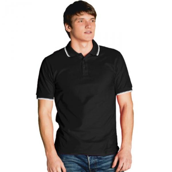 Рубашка-поло мужская StanTrophy, размер 48, цвет чёрный 185 г/м 04T