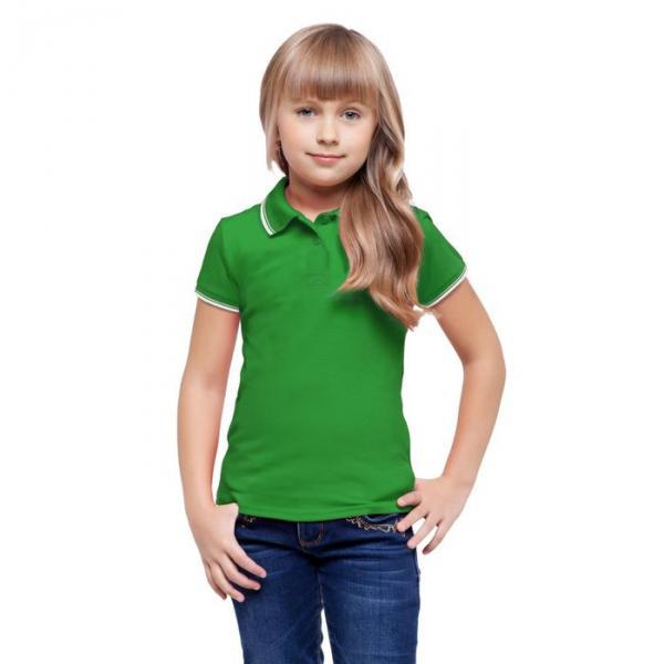 Рубашка-поло детская StanTrophy Junior, 10 лет, цвет зелёный 185 г/м 04TJ