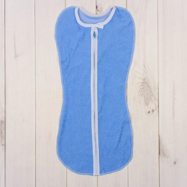 Пеленка-кокон на молнии, рост 50-62 см, цвет голубой 1134_М