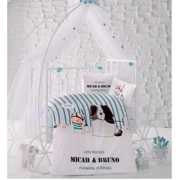 Детское постельное бельё BRUNO, размер 110х160 см, 100х150 см, 35х45 см-2шт., ранфорс, 115 гр/м2