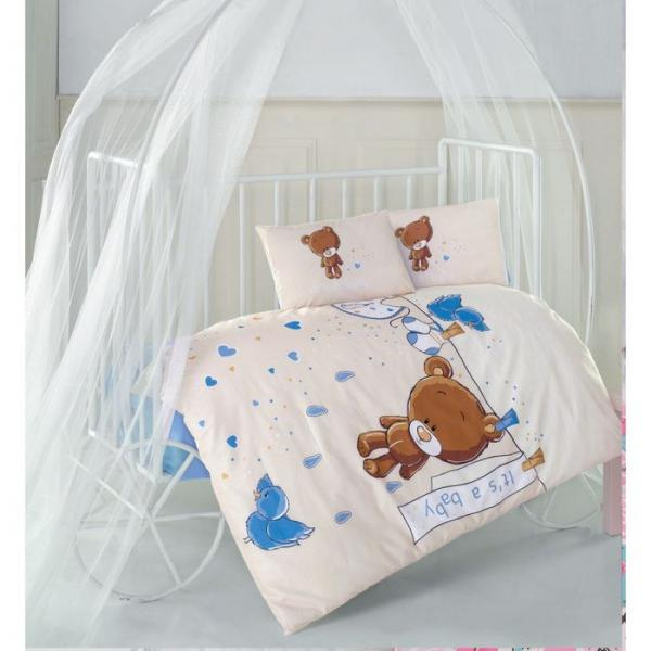 Детское постельное бельё TEDDY V2, размер 110х160 см, 100х150 см, 35х45 см-2шт., ранфорс, 115 гр/м2