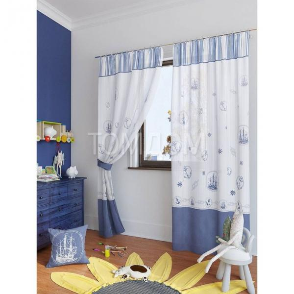 """Комплект штор для детской """"Вертан"""", размер 150х280 см. - 2 шт. и 2 подхвата 945345"""