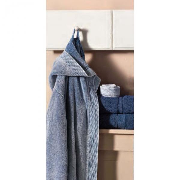 Махровый халат с капюшоном Jeans, размер L/XL 51835hL/XL-51