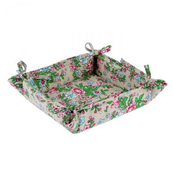 """Текстильная хлебница """"Полевые цветы"""", размер 18х18 см, бязь 125г/м"""