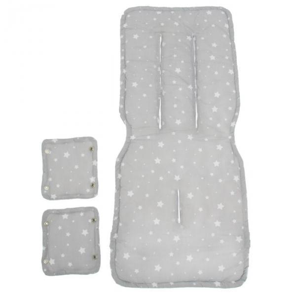 Матрасик-сиденье для прогулочной коляски, цвет белый/серый КК