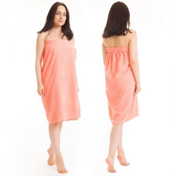 Килт(юбка) жен. махр. арт:КМ-8, 80х150+-2 персик, Хл, 300г/м