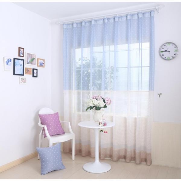 """Тюль """"Маре"""", размер 270х300 см-1 шт., шторная лента, цвет голубой"""