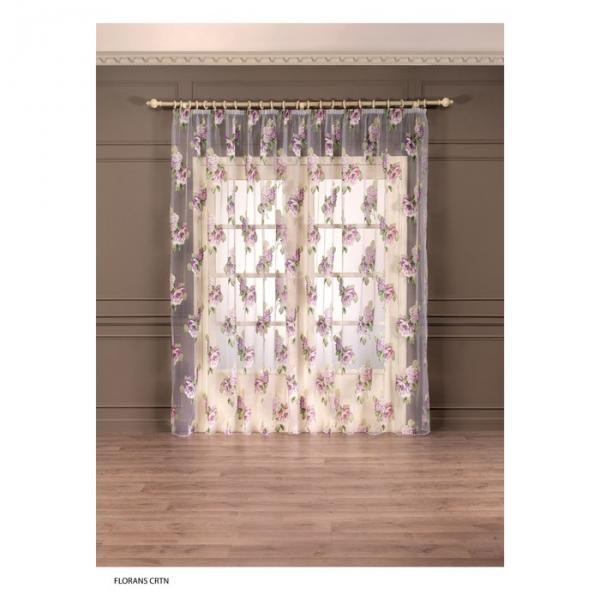 """Тюль """"Флоранс"""", размер 275х300 см-1 шт., шторная лента, цвет фиолетовый"""