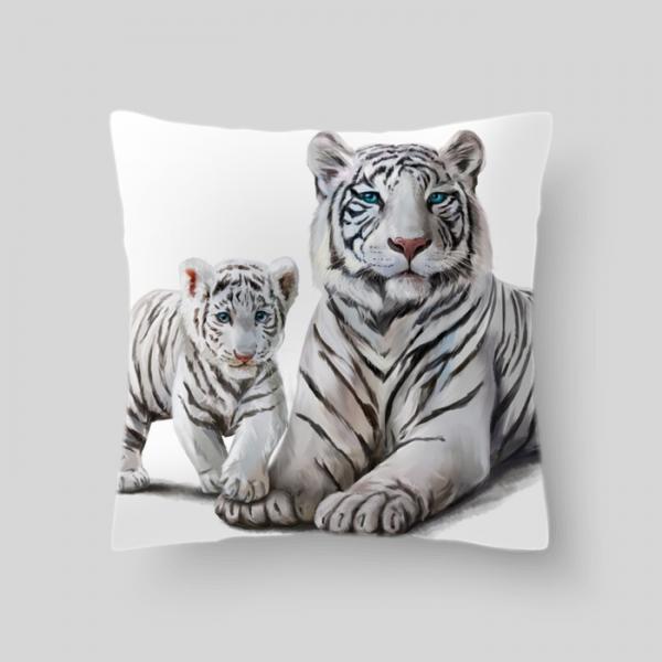 """Декоративная подушка """"Тигр 1"""", размер 40х40 см"""