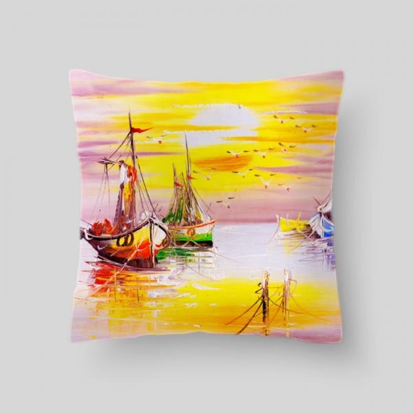 "Декоративная подушка ""Морской пейзаж"", размер 40х40 см"