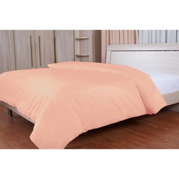 Пододеяльник на молнии, размер 200х220 см, цвет розовый, сатин