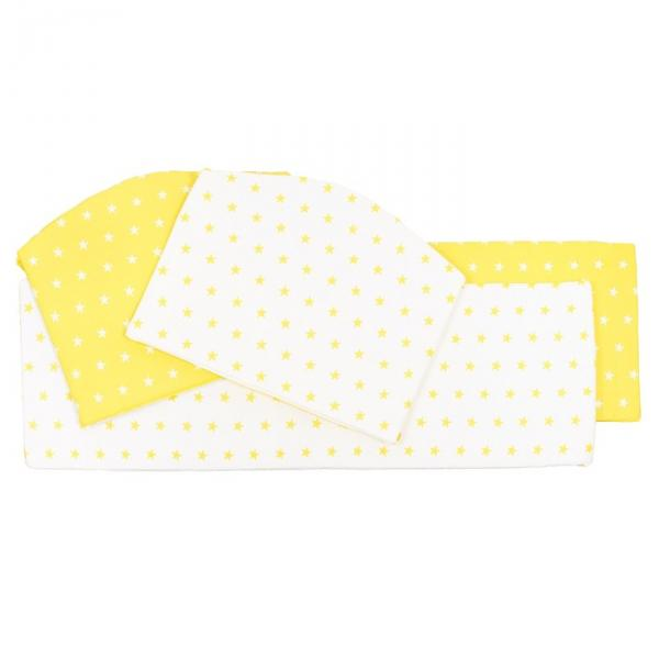 Бортики в кроватку Stelle Giallo, 4 части, цвет жёлтый
