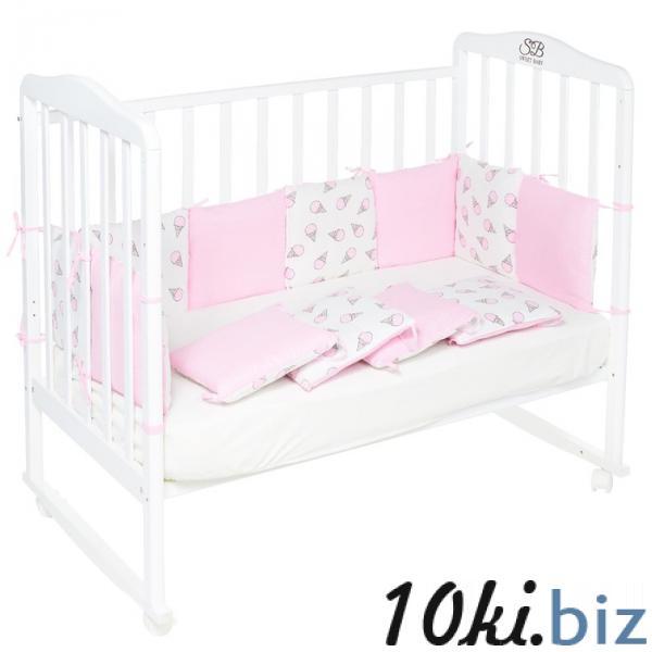 Бортики в кроватку Gelato Rosa, 12 частей, цвет розовый купить в Гродно - Защита в детскую кроватку, бортик, бампер