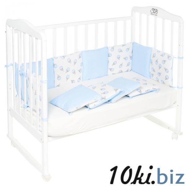 Бортики в кроватку Gelato Blu, 12 частей, цвет голубой купить в Гродно - Защита в детскую кроватку, бортик, бампер