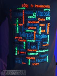 Фото Светящаяся одежда Изготовление светящихся футболок под заказ