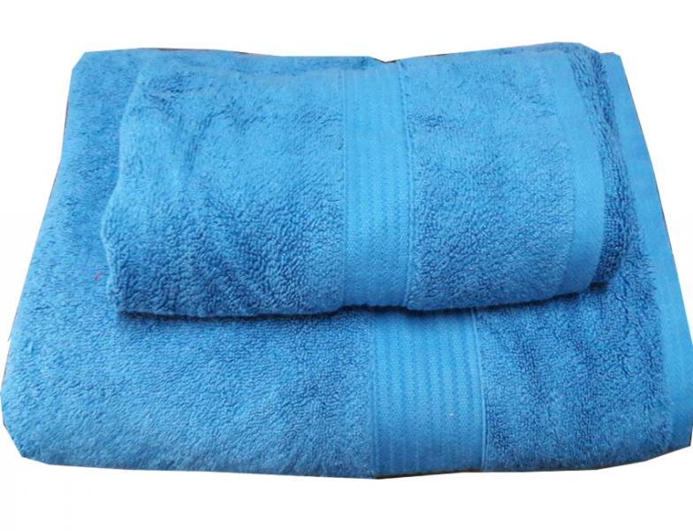 Набор махровых полотенец Galata голубой