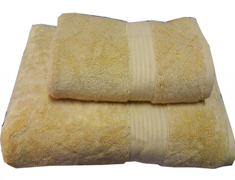 Набор махровых полотенец Galata желтый
