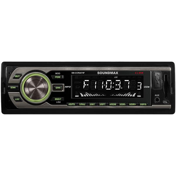 Автомагнитола Soundmax SM-CCR3074F Black/Green