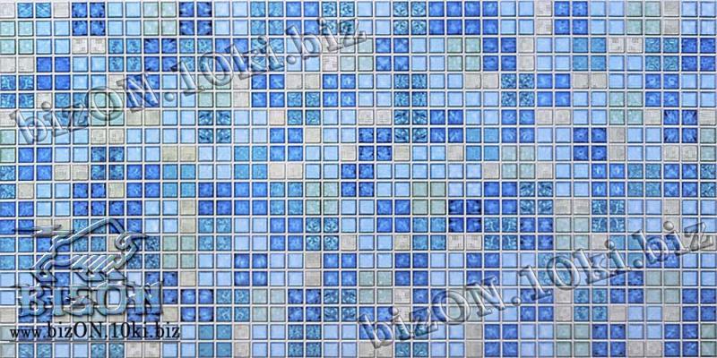 Мозаика «БЛИК СИНИЙ»   Листовые панели ПВХ