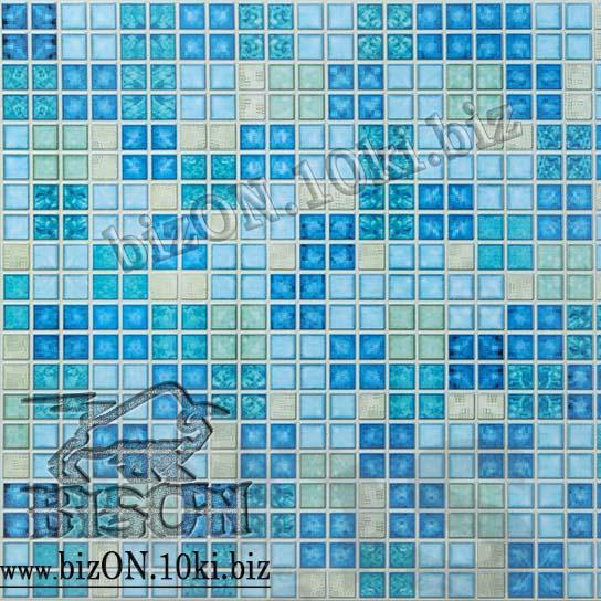 Фото Листовые панели ПВХ Мозаика «БЛИК СИНИЙ»   Листовые панели ПВХ